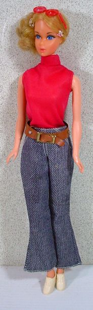 """Mattel 1971 Quick Curl Barbie Wearing 1972 """"Good Sports"""" Outfit~~"""