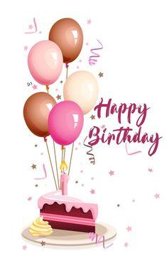 Happy Birthday Balloon Images Inspirational Purple Balloon Decoration Balloon Clipart Get to Her Happy Birthday Art, Birthday Wishes For Kids, Happy Birthday Wishes Cards, Happy Birthday Pictures, Happy Birthday Balloons, Cake Birthday, Birthday Candles, Birthday Clipart, Birthday Design