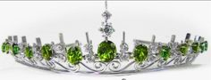 Amelie's Diamond and Tourmaline Tiara; Worn At: Silver Jubilee of Harald V, King of Norway Command Performance