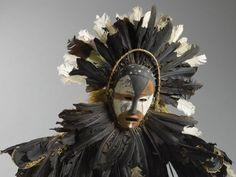 Ndungu mask with costume - Kongo, DR Congo - 19th century