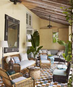Interior Decorating with palm trees interior decorating with plants - Bird Of Paradise - Decorating inside - Patio Furniture - Tom Scheerer Decorates