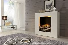 Electrical fireplace / contemporary / closed hearth / built-in - LINEA - EL - Kamin-Design GmbH & Co KG Ingolstadt