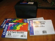 4×6 Index cards 4×6 Dividers An index card box It is frustrating for our children to memorize something and then forget it. This system solves that forgetting problem. Even if they memorized something three years ago ,when they were only 2, they will still remember it if you are faithful with this system. Are you ready?