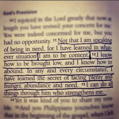 Of all people, Paul knew the secret of contentment no matter what situation he was in. External comfort will never bring internal joy! Philippians 3:10-19
