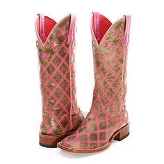 BootDaddy Collection with Macie Bean Pink Patchwork Cowgirl Boots - Boots