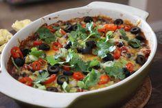 Hot Black Bean Fiesta Dip (plus 16 more dip recipes!) #superbowl