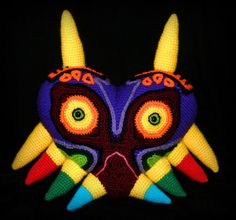 Legend of Zelda: Majoras Mask Crochet Pillow GOTTA LEARN HOW TO MAKE!!