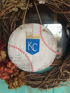Kansas City royals baseball sign baseball by SplendorInTheRough Kc Royals Baseball, Espn Baseball, Minnesota Twins Baseball, Baseball Helmet, Baseball Signs, Baseball Posters, Orioles Baseball, Baseball Crafts, Baseball Uniforms