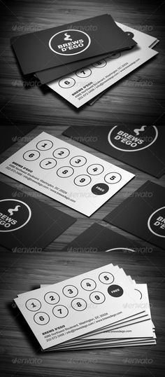 Buy Creative Loyalty Business Card by FlowPixels on GraphicRiver. Creative Loyalty Business Card comes with a normal colored background, and can be used for almost any kind of company. Loyalty Card Design, Name Card Design, Loyalty Cards, Bakery Business Cards, Business Card Design, Design Company Names, Shop Name Ideas, Coffee Shop Names, Visiting Card Design