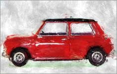 LoRo-Art - Oldtimer Mini BMW rot