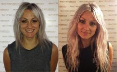 Lou Teasdale / before and after extensions /