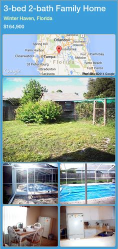 3-bed 2-bath Family Home in Winter Haven, Florida ►$164,900 #PropertyForSaleFlorida http://florida-magic.com/properties/50211-family-home-for-sale-in-winter-haven-florida-with-3-bedroom-2-bathroom