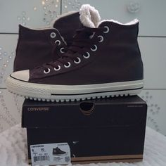 NEW CONVERSE CT BOOT SIZE 8MEN, 10WMN -BRAND NEW IN BOX  -SIZE: 8MEN, 10WOMEN -COLOR: BURNT UMBER -DESCRIPTION: UPPER LEATHER; LINING TEXTILE; OUTSOLE RUBBER -MADE IN CHINA -INCLUDE ORIGINAL BOX WHEN SHIP       ⭐️TOP RATED SELLER 👍FAST SHIPPER NEXT DAY SHIPPING ❌NO TRADE ❌NO PAYPAL ✅BUNDLE OFFER Converse Shoes Winter & Rain Boots