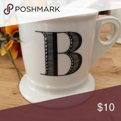 ANTHROPOLOGIE MONOGRAM MUG LETTER B Selling this Anthropologie monogrammed mug | Letter B| No Chips or Cracks | Bottom pictured with the classic Anthropologie bird | Cute! 💕 Anthropologie Other