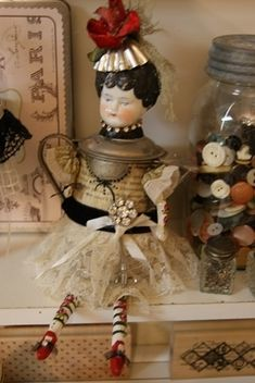 assemblage doll by maribel