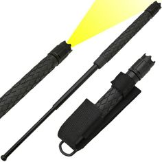 Order a Expandable Baton Flashlight and other baton products online from The Home Security Superstore. Own yours today! Survival Tools, Survival Stuff, Self Defense Weapons, Glass Breaker, Personal Defense, Button Cell, Cool Gear, Small Rings, Led Flashlight