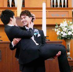 Cute Gay Couples, Couples In Love, Bad Romance, I Am Bad, Lgbt Wedding, Heechul, Attractive People, Gay Pride, Super Junior