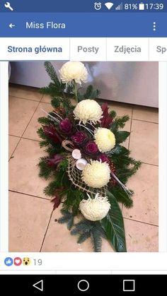 (notitle) - Arreglos florales - #arreglos #Florales #notitle Grave Decorations, Sympathy Flowers, Arte Floral, Flower Bouquet Wedding, Ikebana, Flower Crafts, Funeral, Floral Arrangements, Christmas Wreaths