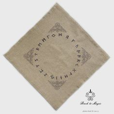 Check out this embroidered rune cloth in my Etsy shop This simple rune cloth is sold in Etsy store. Wiccan, Witchcraft, Rune Viking, Rune Casting, Celtic Animals, Elder Futhark, Altar Cloth, Asatru, Embroidery Art