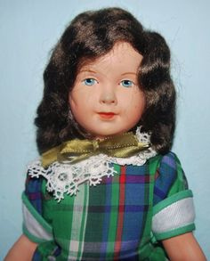 "13"" celluloid doll, with painted eyes, France, 1930, maker unknown."
