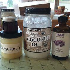{Homemade} Diaper rash cream - Coconut oil, beeswax and vit E