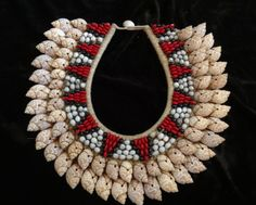 Beautiful Necklace with Combination Shell Color by ubudexotica