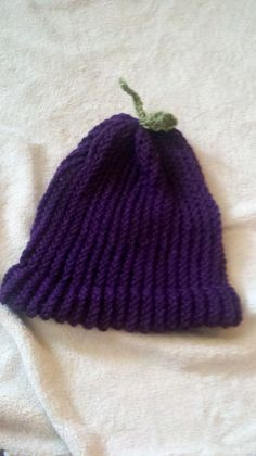 Plum Hat   sizes Newborn/doll, child/baby, youth/adult, adult large