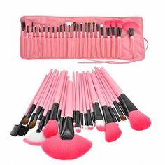 Vista Shops on OpenSkyHigh Quality 24 pcs cosmetic makeup brush set An assortment of hand-sculpted brushes, ranging from angled eye-shadow brushes to poofy powder brushes.