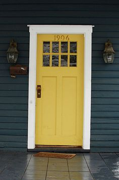 Thinking about painting my door yellow...