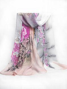 Chiffon Floral Printed Scarves - berrylook.com