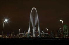 Another view of the Margaret Hunt Hill Bridge in Dallas which was illuminated for the first time Jan. 10, 2012  Photo: Dana Driensky