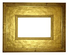 American 19th century apllied ornament and gilded Stanford White designed frame with Dutch ripple and basket weave motifs