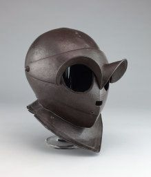 Northern Italian  Closed Burgonet (Siege Helmet), c. 1620  Steel H. 22.9 cm (9 in.)  George F. Harding Collection, 1982.2498