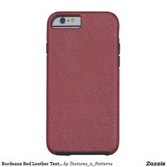 Shop Bordeaux Red Leather Texture Case-Mate iPhone Case created by Textures_n_Patterns. Leather Case, Red Leather, Flint Fire Starter, Iphone 6, Iphone Cases, Cool Stuff, Interesting Stuff, Stuff To Buy, Leather Texture