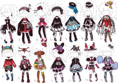 -CLOSED- Goth OUTFIT ADOPTS by Guppie-Adopts.deviantart.com on @DeviantArt