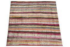 Traditional Handwoven Rag Rug 35 x 35  Feet by kilimwarehouse