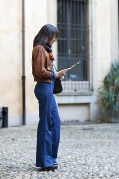 art of wore -  High-waist, wide-leg jeans