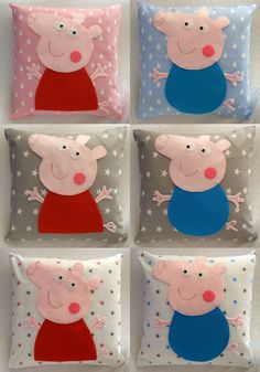 Peppa pig, George pig pillow and cushion cover,baby gift,handmade,kids,cotton,