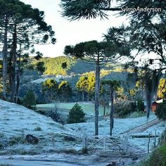 Foto espetacular do amanhecer em Rancho Queimado na grande Florianópolis. Imagem: Sylmo Anderson