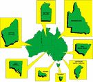 Everything you need to know about each Australian State or Territory's emblems - animal, flower, colour and bird. Australia Country, Australia Day, Earth And Space Science, Earth From Space, Flower Colour, Teaching Geography, Australian Curriculum, Teaching Aids, Unit Studies