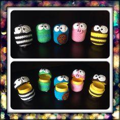 Ü-Eier umhäkelt Crochet For Kids, Crochet Toys, Knit Crochet, Small Gifts, Key Rings, Diy Crafts, Knitting, Crocheting, Pokemon