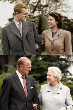 Queen Elizabeth and Prince Philip. They've been married for 65+ years.