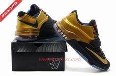 "706858-476 Nike KD 7 Premium ""Trophy"" Midnight Navy/Metallic Gold-Bright Crimson"