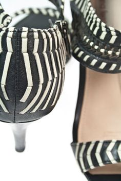 These heels have a beautifully woven soft cream leather in soft black leather... http://www.rosenbergshoes.com.au/diana-ferrari/pascoe/black-cream/size-12/