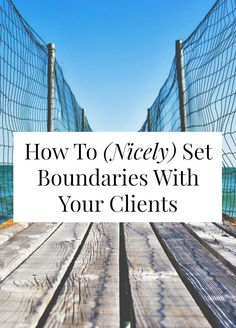 Want to know how to set boundaries with clients? It can be hard and a little awkward! Click through for my copy-and-paste 'collaboration guidelines'! // sarahvonbargen.com