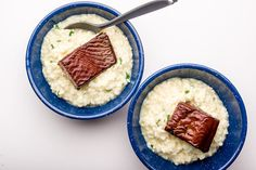 Recipe for salmon risotto on the trail.  http://www.backpacker.com/salmon-risotto/skills/18691