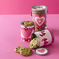 DIY:Make a Valentine's Day canister - not just Mother's Day - any holiday or for storage ( craft areas, kitchen, kid's bedrooms).  Cut and paste images from collage sheets to personalize the tins.