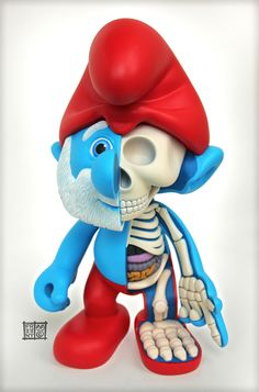 Papa Smurf Dissected by Jason Freeny