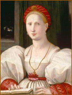 Portrait of a Woman with a Book -- Paolo Zacchia il Vecchio the Elder