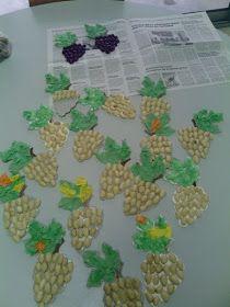 Játékos tanulás és kreativitás: Szőlő ötletek Fruit Crafts, Vbs Crafts, Flower Crafts, Preschool Crafts, Hobbies And Crafts, Arts And Crafts, Pista Shell Crafts, Art For Kids, Crafts For Kids